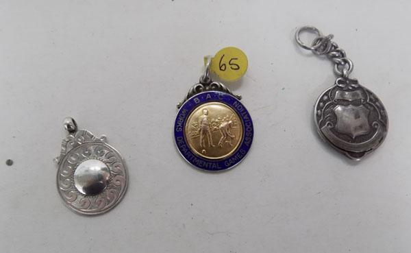 Works Dept. Games Assoc. silver pendant/silver pendant/silver fob blank cartouche