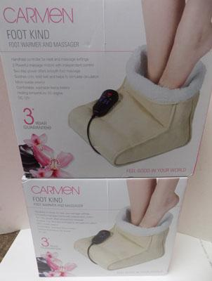 Two Carmen foot warmer and massager
