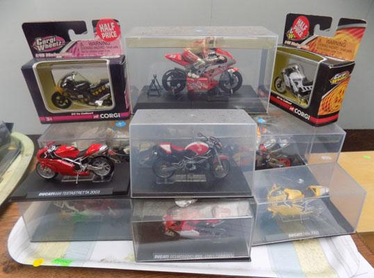 Collection of diecast bikes