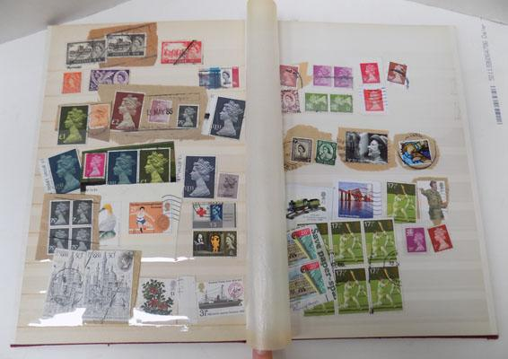Album of GB stamps with gutter pears