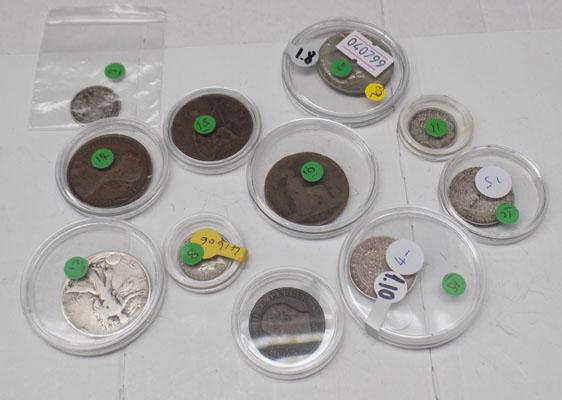 Collection of assorted coins inc silver