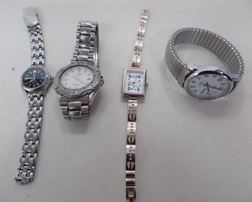 Bag of watches including solid silver watch