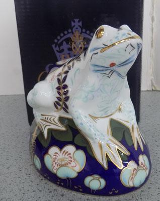 Royal Crown Derby frog moneybox