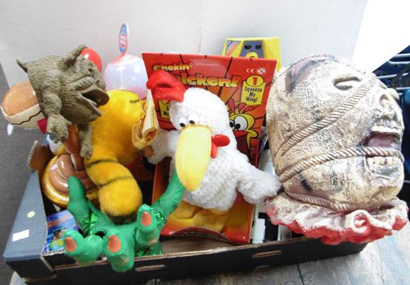 Box of traditional joke toys