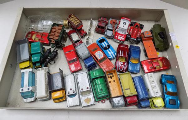 Tray of diecast