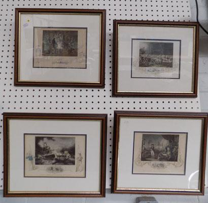 4 Lord Nelson framed prints