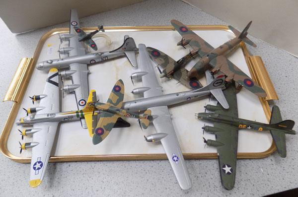 Tray of diecast planes