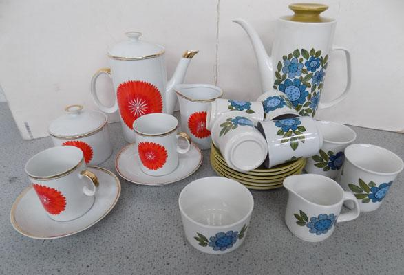 Meakin coffee set for 6 and one other set for 2