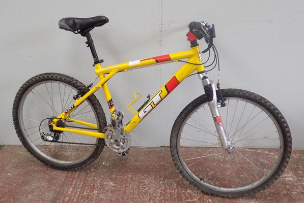 "GT Aggressor Two yellow 26"" hardtail 24 gears bike"