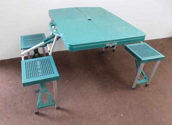 Picnic table for camping