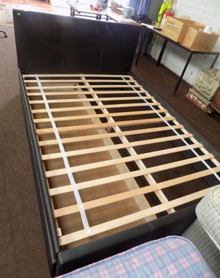 Double bed frame with large drawer