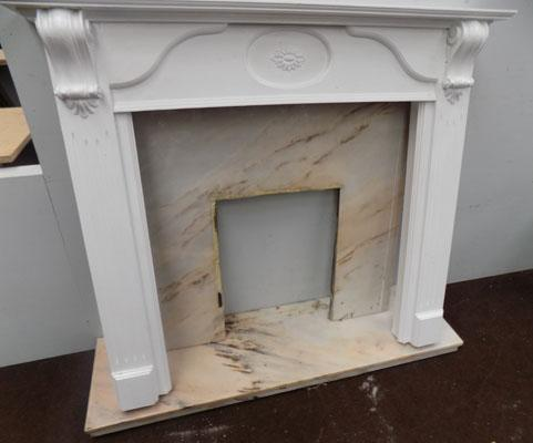 Marble fire place + surround