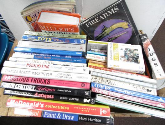 Box of collector's books including Royal Doulton