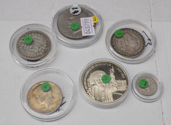 Collection of assorted silver coins