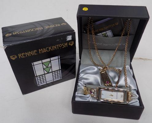Rennie Mackintosh boxed watch and pendant
