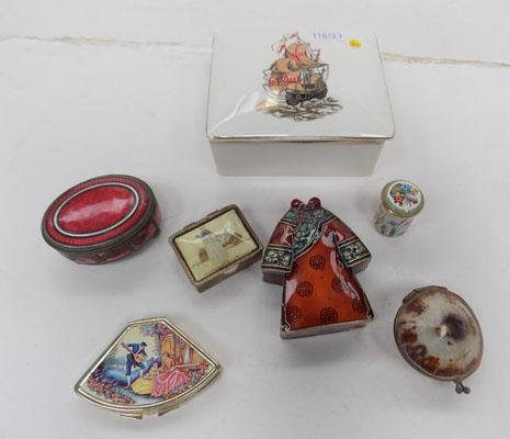Assorted collection of trinket and pill boxes