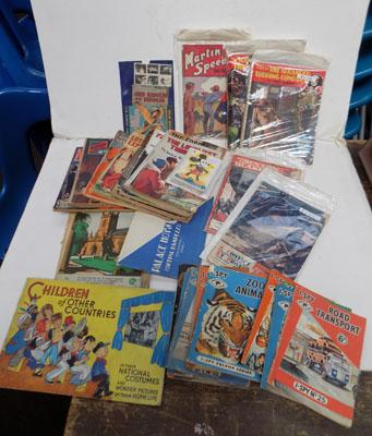 Collection of vintage magazines including Seton Blake and I spy Road Transport