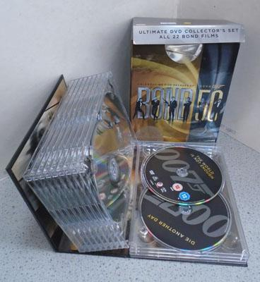 Large selection of James Bond DVDs
