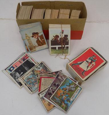 Box of vintage collectors cards