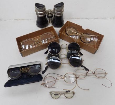 Collection of vintage spectacles