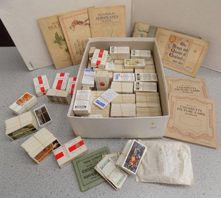 Box of cigarette & trade cards