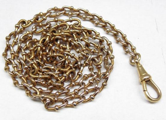 Edwardian fancy link watch chain