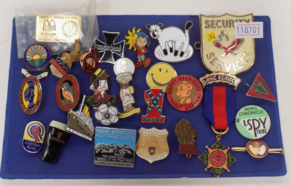 Collection of badges