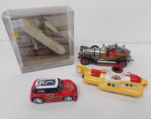4 Die Cast including Mellow Submarine