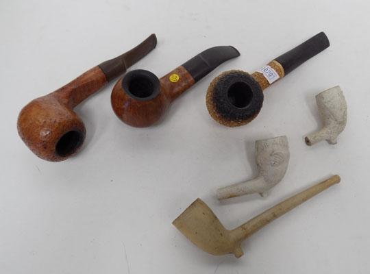 Collection of assorted pipes