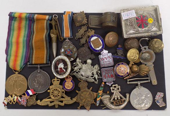 Collection of war memorabilia