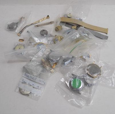 Bag of watches + watch parts