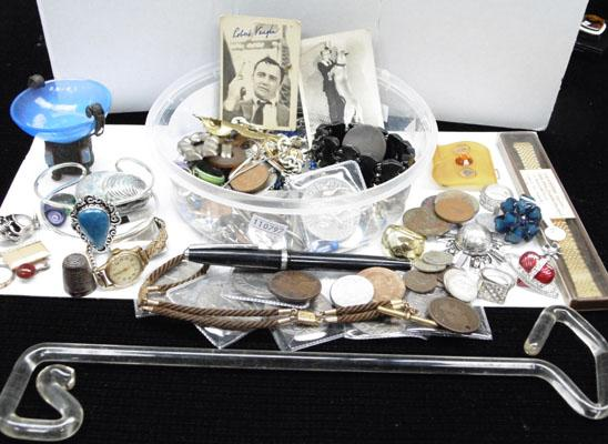 Mixed collectables including coins/jewellery etc.