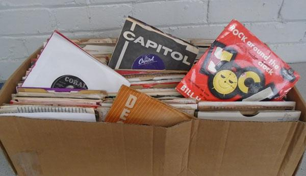 "Box of 7"" singles and EP's 1950's/60's etc"