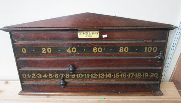 Mixon & Sons Leeds Snooker table score board