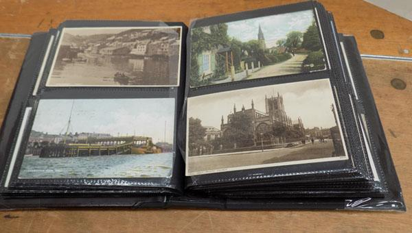 Selection of vintage postcards