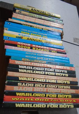Box of Warlord books