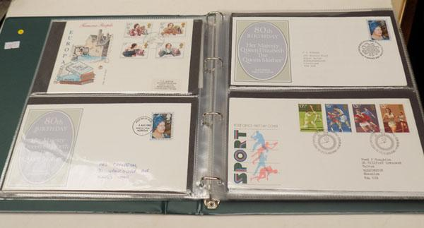 Album of typed illustrated first day covers etc.