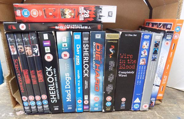 Selection of DVD box sets