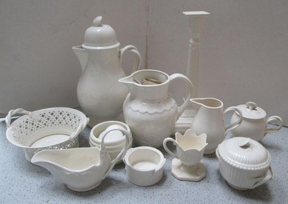 Selection of cream ware