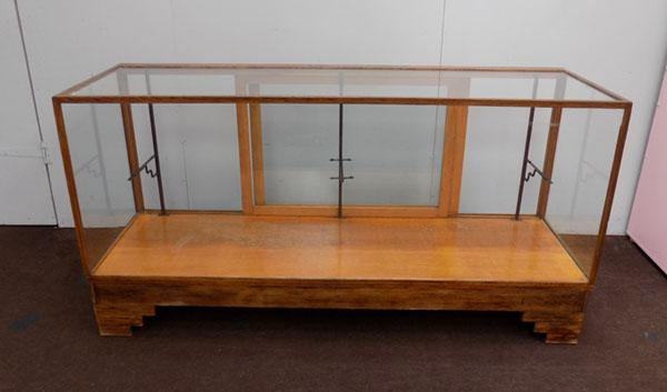 Large vintage haberdashery glass display cabinet