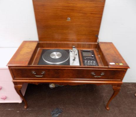 Walnut veneered record player