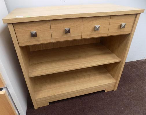 Oak sideboard with single draw