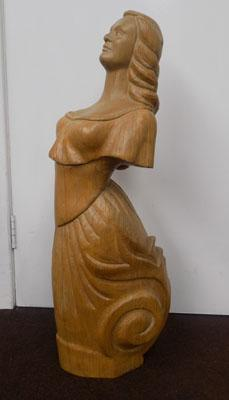 Oak carved figure head