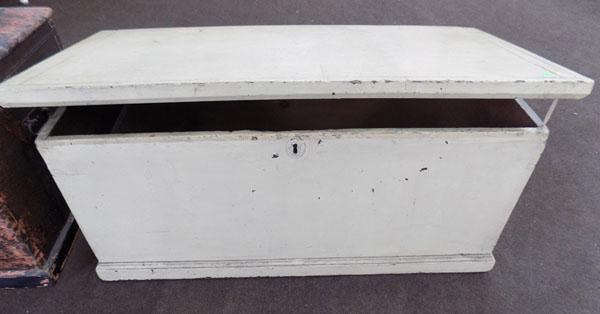 Cream painted wooden chest
