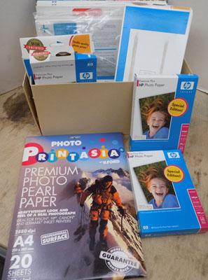 Box of photographic paper