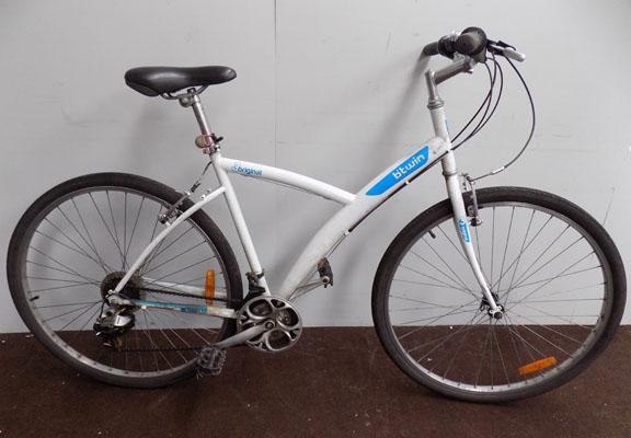 "B-Twin original 3 white 28"" rigid 21 gears bike"