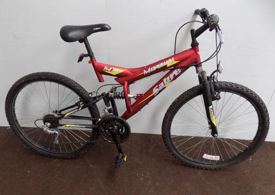 "Sabre Mercury red/black 26"" full suspension 15 gears bike"