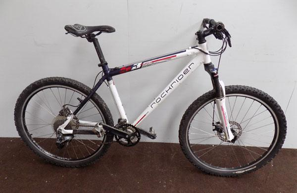 "Rockridger 5.3 white/blue 26"" hardtail bike"