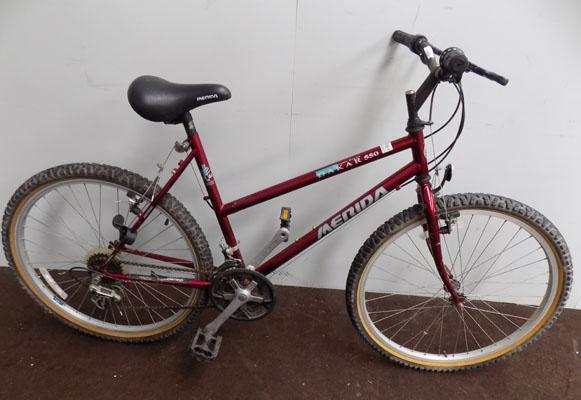 "Carrera vulcan silver/red 26"" rigid 21 gears bike"