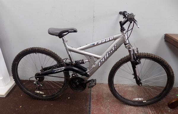 Pulse Forge silver/black full suspension 18 gears bike